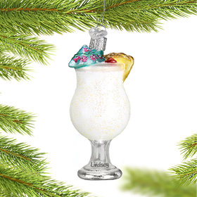 Personalized Pina Colada Christmas Ornament