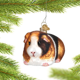 Personalized Pet Guinea Pig Christmas Ornament