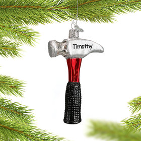 Personalized Claw Hammer Christmas Ornament