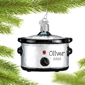Personalized Slow Cooker Christmas Ornament