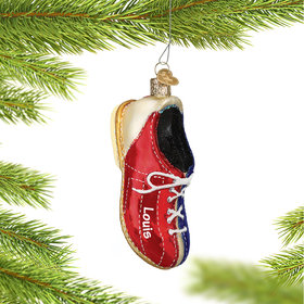 Personalized Bowling Shoe Christmas Ornament