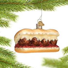 Personalized Meatball Sandwich Christmas Ornament