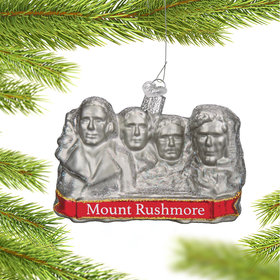 Personalized Mount Rushmore Christmas Ornament