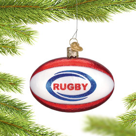Personalized Rugby Ball Christmas Ornament