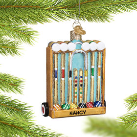Personalized Croquet Set Christmas Ornament