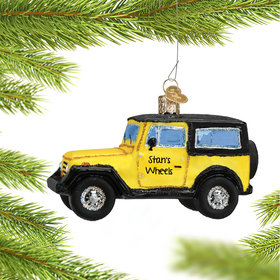 Personalized SUV Jeep Christmas Ornament