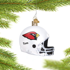 Personalized Arizona Cardinals NFL Helmet Christmas Ornament