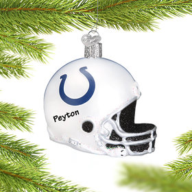 Personalized Indianapolis Colts NFL Helmet Christmas Ornament