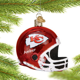 Personalized Kansas City Chiefs NFL Helmet Christmas Ornament