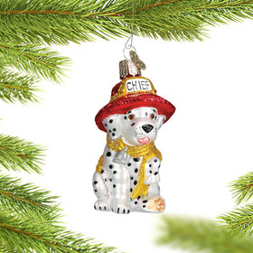 Personalized Dalmatian Pup Christmas Ornament