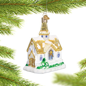 Golden Cathedral Christmas Ornament