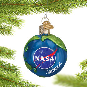 Personalize NASA Earth Christmas Ornament