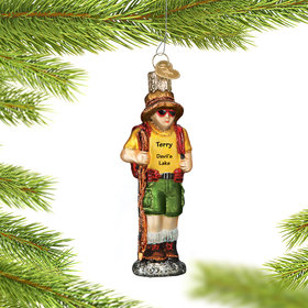 Personalized Hiker Christmas Ornament