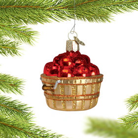 Personalized Apple Basket Christmas Ornament