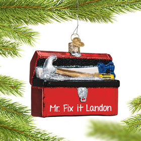 Personalized Toolbox Christmas Ornament