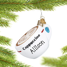 Personalized Cappuccino Christmas Ornament