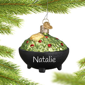 Personalized Guacamole Christmas Ornament