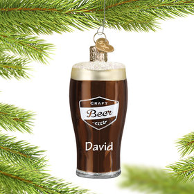Personalized Craft Beer Christmas Ornament