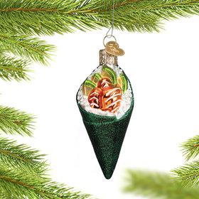 Personalized Sushi Hand Roll Christmas Ornament