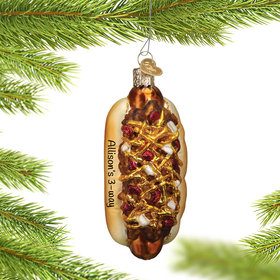 Personalized Chili Cheese Dog Christmas Ornament