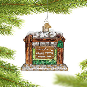 Personalized Grand Teton National Park Christmas Ornament