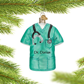 Personalized Scrubs Christmas Ornament