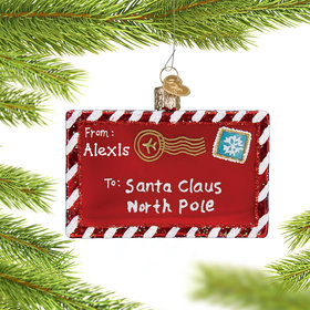Personalized Letter to Santa Christmas Ornament