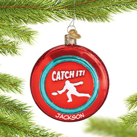 Personalized Sports Disc Christmas Ornament