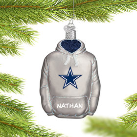 Personalized Dallas Cowboys Hoodie Christmas Ornament