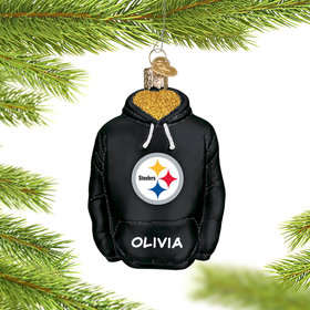 Personalized Pittsburgh Steelers Hoodie Christmas Ornament