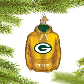Personalized Green Bay Packers Hoodie Christmas Ornament