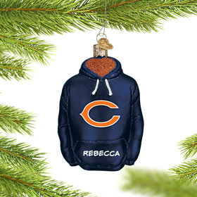 Personalized Chicago Bears Hoodie Christmas Ornament