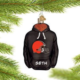 Personalized Cleveland Browns Hoodie Christmas Ornament