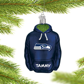 Personalized Seattle Seahawks Hoodie Christmas Ornament