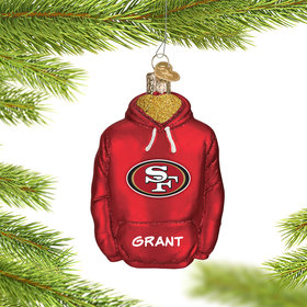 Personalized San Franciso 49ers Hoodie Christmas Ornament