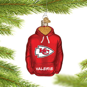 Personalized Kansas City Chiefs Hoodie Christmas Ornament