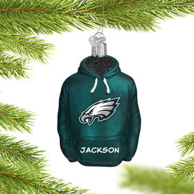 Personalized Philadelpha Eagles Hoodie Christmas Ornament