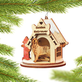 Golden Retreiver Christmas Ornament