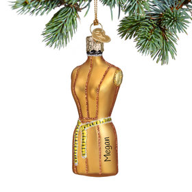 Personalized Dress Form Christmas Ornament