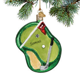 Personalized Putting Green Christmas Ornament