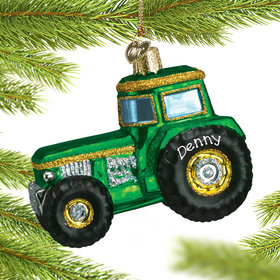 Personalized Tractor Christmas Ornament