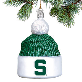 Personalized Michigan State Beanie Christmas Ornament