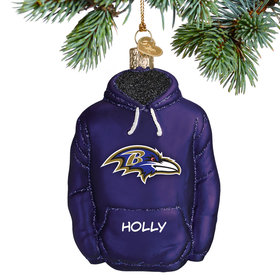 Personalized Baltimore Ravens Hoodie Christmas Ornament