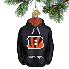 Personalized Bengals Hoodie Christmas Ornament