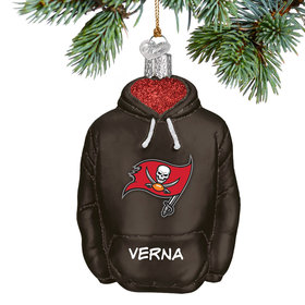 Personalized Tampa Bay Buccaneers Hoodie Christmas Ornament