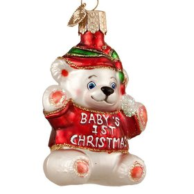 Personalized Baby's First Christmas Red Christmas Ornament