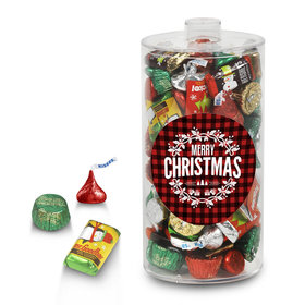 Hershey's Holiday Plaid Christmas Canister