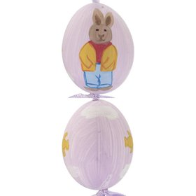 Personalized Boy Bunny Easter Egg (Purple) Christmas Ornament