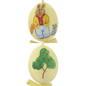 Personalized Boy Bunny Easter Egg (Yellow) Christmas Ornament