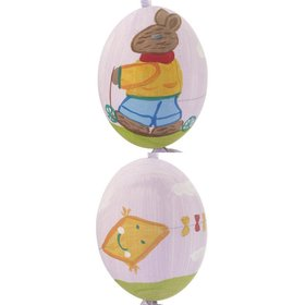 Personalized Bunny Riding Scooter Purple Easter Egg Christmas Ornament
